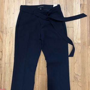 Banana Republic navy trousers w cinched waist OOP